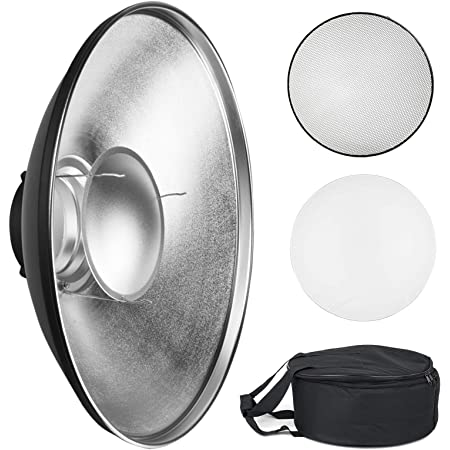 21.6 inches//55 centimeters for Bowens Gemini Standard R Neewer Photo Studio Strobe Flash Light Reflector Beauty Dish with Honeycomb Grid and Scrim RX Strobe and More