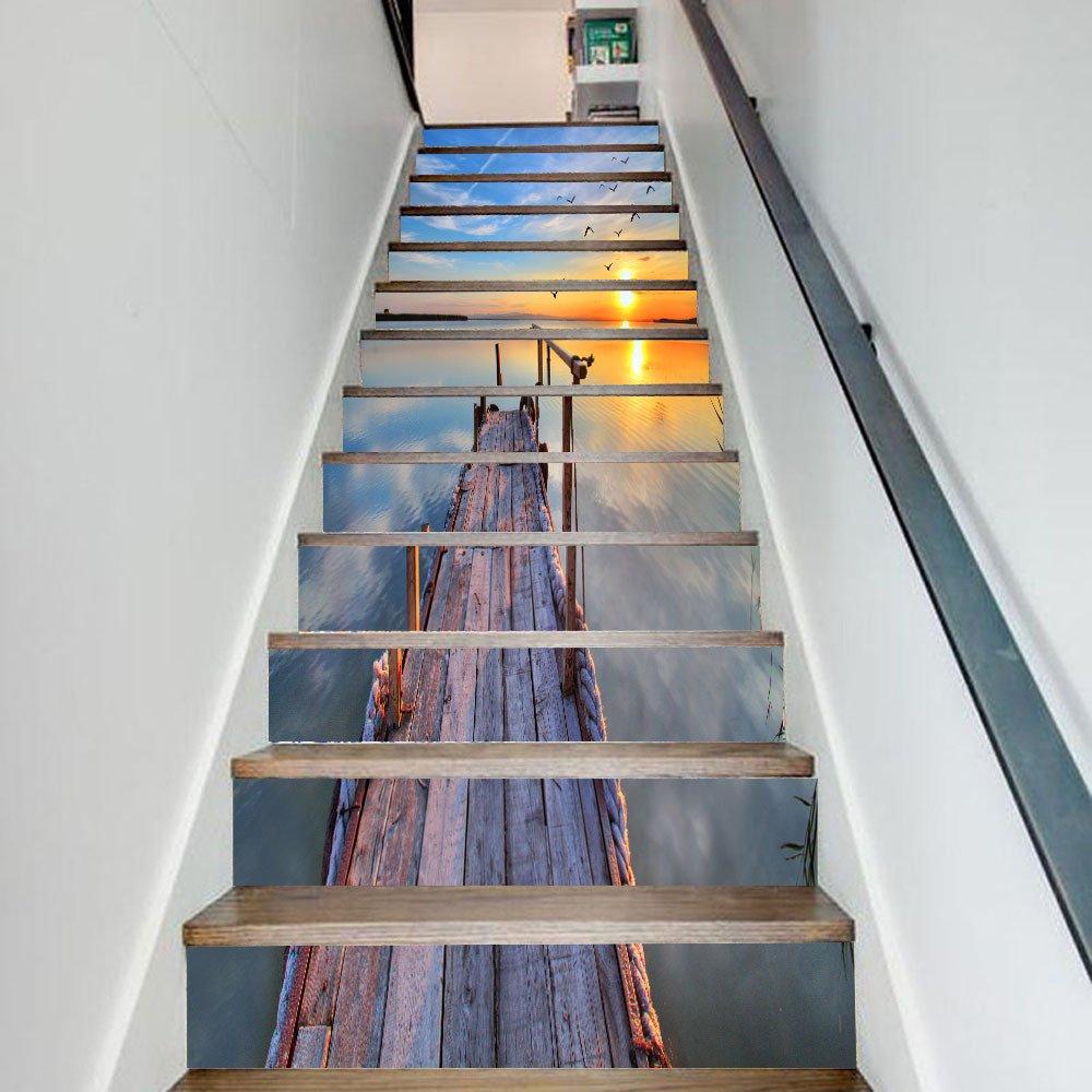 Amazon Co Jp 階段自己粘着壁紙階段ステッカー防水ステップ家の装飾イスラムラマダンの祝福は壁ステッカーを削除することができます ホーム キッチン