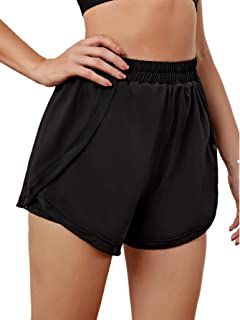 SheIn Women's Workout Athletic Shorts with Slant Pockets High Waist Sports Shorts