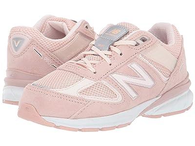New Balance Kids 990v5 (Infant/Toddler) (White Oak/Pink Mist) Girls Shoes