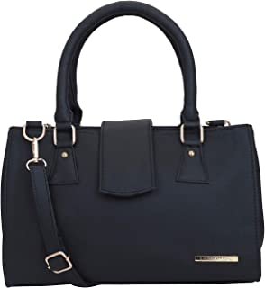 Lapis O Lupo Women Fashion Faux Leather Handbags Top Handle Satchel Purse With Sling