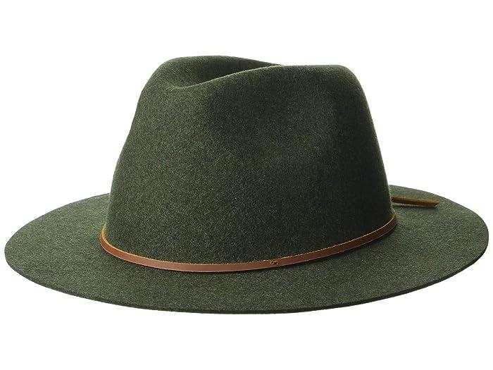 1960s – 70s Style Men's Hats Brixton Wesley Fedora HeatherGreen Traditional Hats $62.00 AT vintagedancer.com