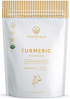 The Organique Co. Turmeric Root Powder with Curcumin (4.5%) – Anti-Inflammatory for Joint Pain Relief - 8 Ounce, Resealable Bag – Organic, 100% Pure, Raw, Non-GMO Supplement – Sustainably Sourced