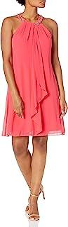 S.L. Fashions womens Jewel Halter Sheath Dress (Petite and Regular) Special Occasion Dress