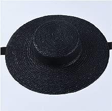 New Wide Brim Boater Hat 10Cm 15Cm Brim Straw Hat Flat Women Summer Hat Beach Cap 10cm brim2