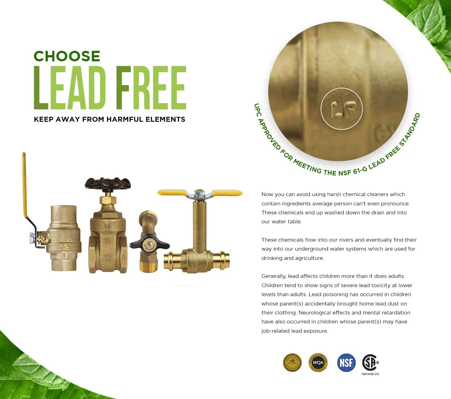 Midline Valve 91212QS-OM Water Supply Stop Valve with Quarter Turn Control Key; Lead Free; One Piece; Angle Shut-off for Toilet SWT x 3//8 in Dishwasher; 1//2 in COMP; Chrome Plated Brass Sink