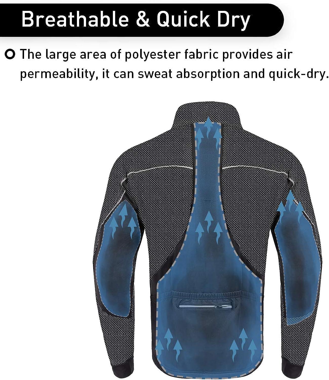 Fleece Thermal Running Coat Windproof Breathable Mountain Biking Softshell Jacket Dooy Winter Cycling Bike Jacket for Men