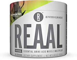 REAAL - REAAL Kona Dragon Fruit Powder, Helps Build, Restore, and Maintain Lean Muscle with Essential Amino Acids, Gluten Free, Bloat Free, Lactose Free, Caffeine Free, Vegan, 30 Servings (6.77 Oz)