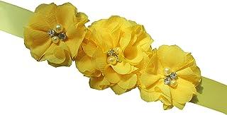 ブライズメイドand Flowergirlsサッシウェディングサッシ真珠花ベルト