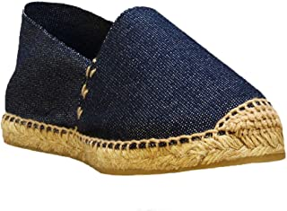 DIEGOS Women's Men's Espadrilles. Hand Made in Spain. (EU 43, Denim)