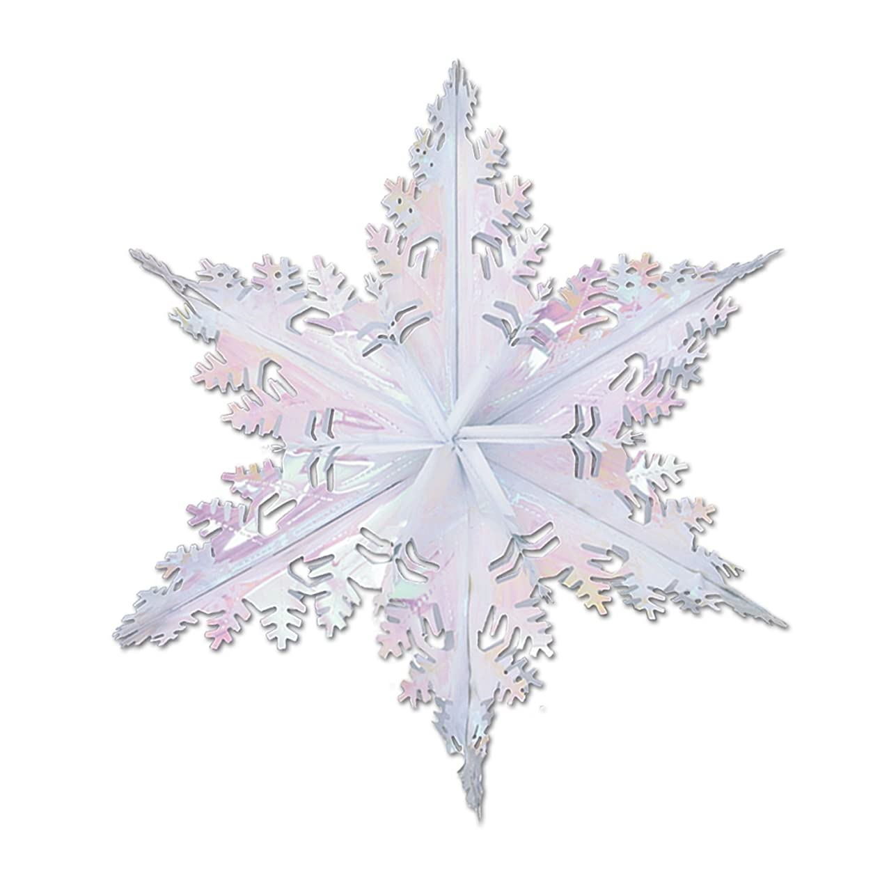 Metallic Winter Snowflake (opalescent) Party Accessory  (1 count) (1/Pkg)