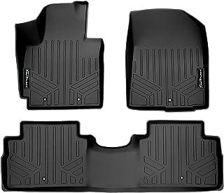 SMARTLINER Custom Fit Floor Mats 2 Row Liner Set Black for 2014-2019 Kia Soul