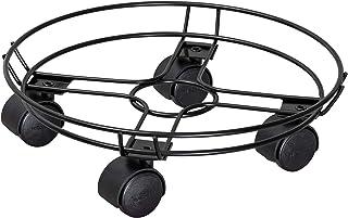 Porte Plante /ÉDITION Noire pour lint/érieur rev/êtement Noir Capacit/é de Charge 60 kg avec Bordure 20093301 Support Roulant pour Pot en Acier WAGNER Chariot de Plantes Black /Ø 30 x 5 cm