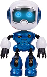 SPACE LION Educational Mini Pocket Robot for Kids Interactive Dialogue Conversation,Voice Control, Chat Record, Singing& Dancing (U Robot-Metal Blue)