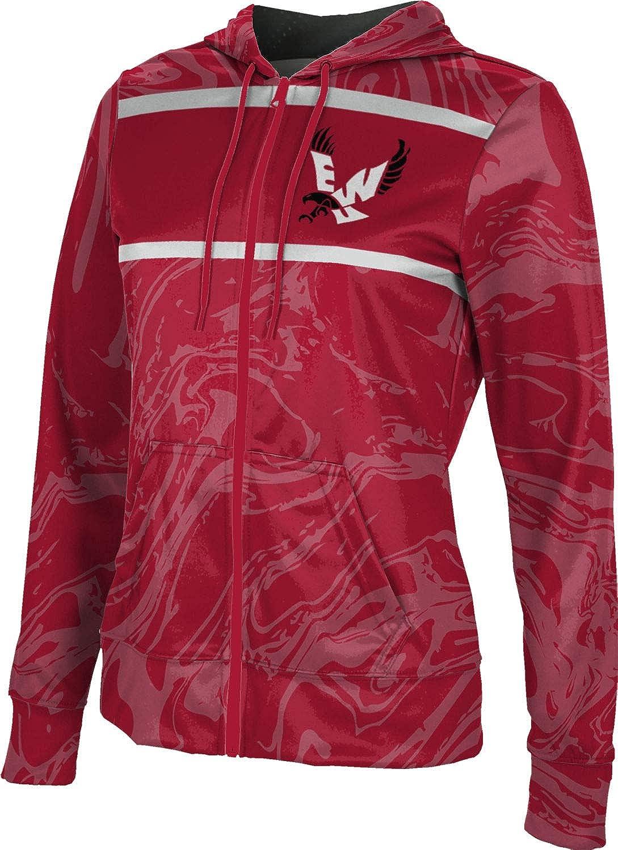 ProSphere Eastern Washington University Girls' Zipper Hoodie, School Spirit Sweatshirt (Ripple)