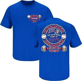 Chicago Baseball Fans. Bleacher Bums Royal T-Shirt (Sm-5X)