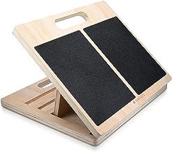 Navaris verstelbaar anti-slip stretch board - Houten incline board - 3 standen - Voor het rekken van kuiten, voeten, enkel...