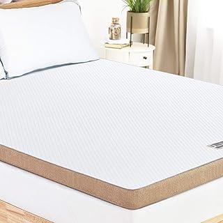 BedStory Surmatelas 160 x 200 cm, Surmatelas Memoire de Forme Gel, Epaisseur Totale de 7.6 cm, Conception Ventilée, Surmat...