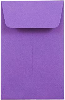 JAM PAPER #1 Coin Business Colored Envelopes - 2 1/4 x 3 1/2 - Violet Purple Recycled - 50/Pack