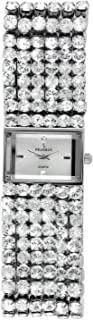 Peugeot Women Jewelry Evening Watch - Handset with 6 Strands of Genuine Swarovski Crystals