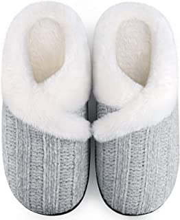 Homitem Women's Cozy Memory Foam Chenille Slippers with Memory Foam, Ladies'Fuzzy Fleece Lining Slip on House Slipper Shoe...