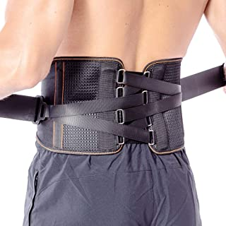 Back Braces for Lower Back Pain with Pulley System for Women and Men - Lumbar Support Belt for Herniated Disc, Sciatica, Scoliosis, Spinal Stenosis - Adjustable Straps and Breathable Mesh (XL)