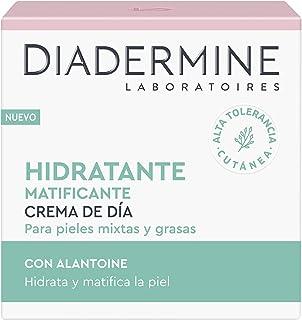 Diadermine - Crema Hidratante y Matificante de Día 50ml para pieles normales y mixtas Cutis uniforme y sin brillos