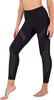 90 Degree By Reflex High Waist Iridescent Silicon Ankle Length Workout Leggings