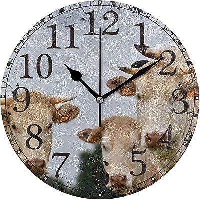 SENNSEE Aniaml - Reloj de Pared con diseño de cocodrilo y Boca ...