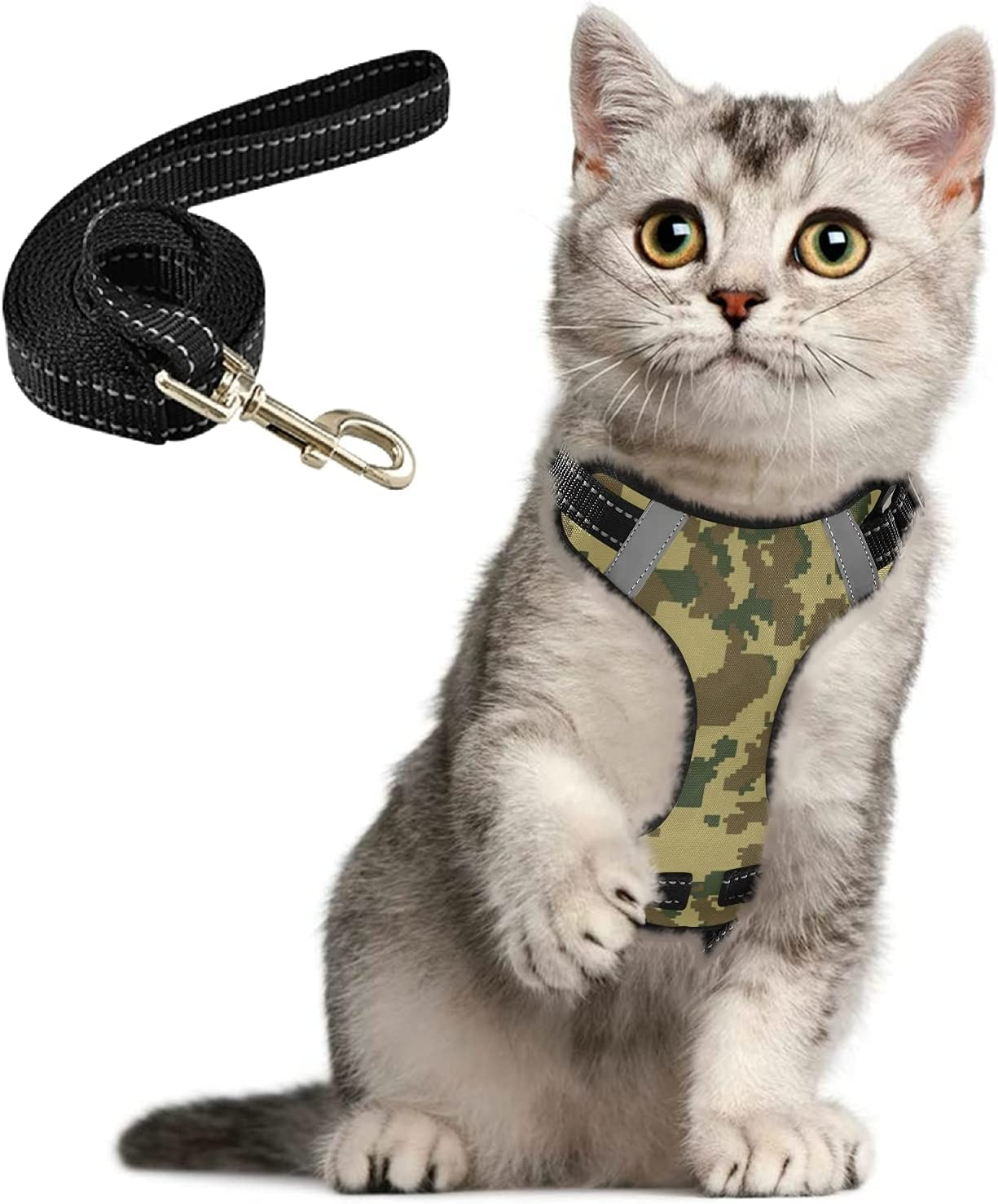 Charlotte Mall Digital Camo Cat Harness Max 77% OFF and Leash Escape Set Proof Walking for