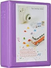 Woodmin 28+1 Pockets Mini Polaroid Photo Album for 3 inch Pictures by Fujifilm Instax Mini 8 8+ Mini 9, Snap, Zip, Z2300, Bank Card, Business namecard Book (Purple)