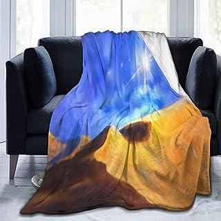 YYan Ultra-Soft Micro Fleece Blanket,Hand Painted Artistic Oil Painting, Desert, Blue Sky, Landscape,Home Decor Warm Throw...