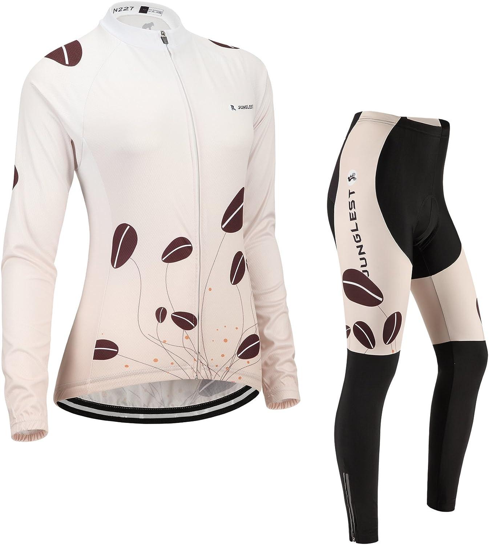 Cycling jersey Set, Maillot de Cyclisme Women Femme Long sleeve Manches Longues(S5XL,option bib Cuissard,3D pad Coussin) N227