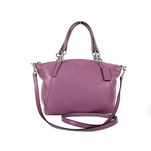 629bdedd4bf9b Coach F36675 Leather Small Kelsey Shoulder Bag Purple (Mauve)