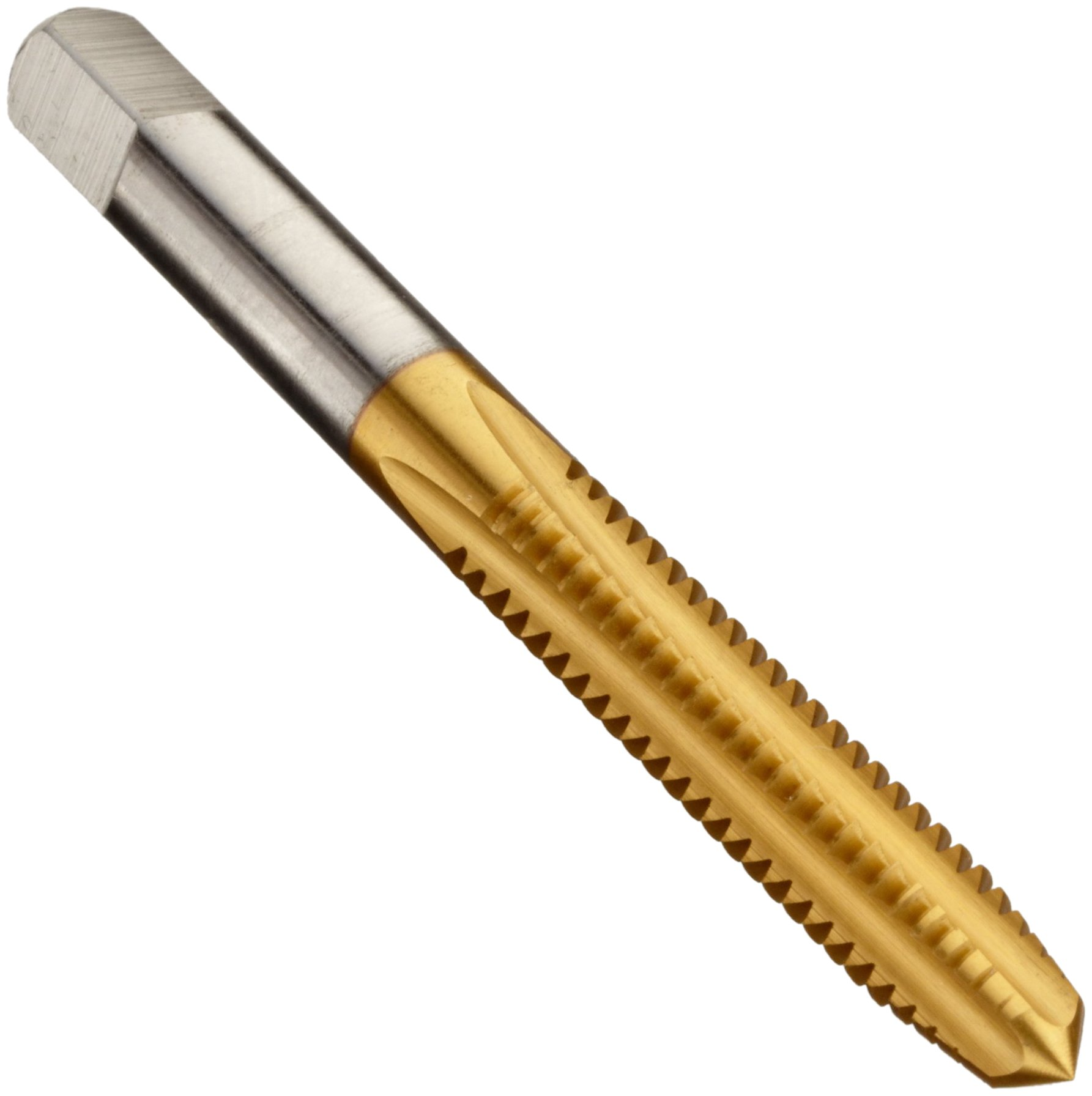 5//16-18 Thread Size 6 Oall Length Plug Chamfer UNC Uncoated High-Speed Steel Spiral Point Tap Union Butterfield 1534NE Round Shank with Square End Bright Finish