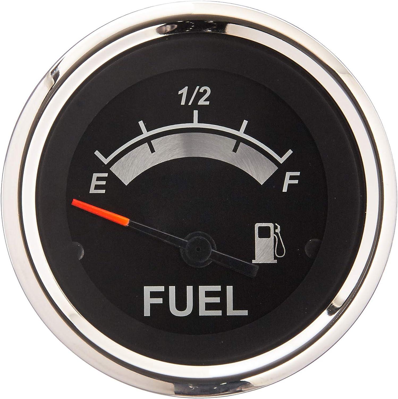 Sierra International 67021P Sterling Fuel Gauge, 2 , Black