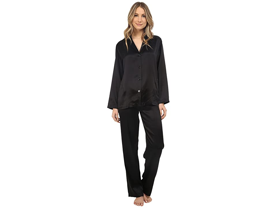 La Perla Silk Pajama (Black) Women