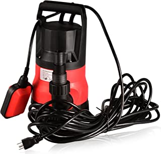 Submersible Water Pump Sump with Float Switch Portable Clean/Dirty (0.5HP, red 110-120V)