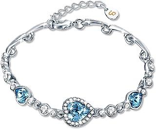 Preciosa pulsera romantica de corazones con cristales swarovski