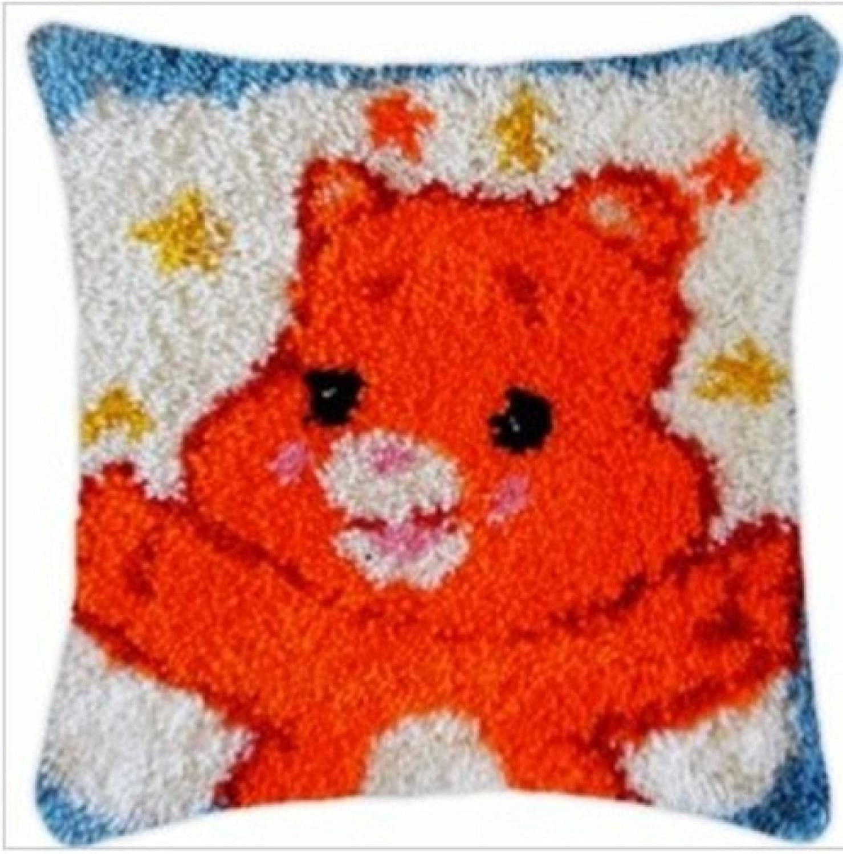 Denver Mall DIY Crochet Cheap mail order sales Yarn Kits Pillowcase Adult Making for Beginners