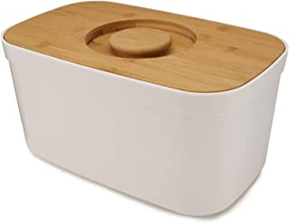 Joseph Joseph 81097 Bread Bin with Cutting Board Lid-White, One size