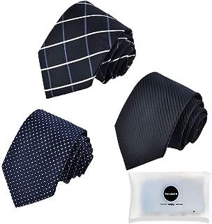 ネクタイ 3本セット メンズ おしゃれ ビジネス 洗える ネクタイ セット 人気 チェック柄 小紋 格子 ストライプ ドット 結婚式 就活 プレゼント父の日