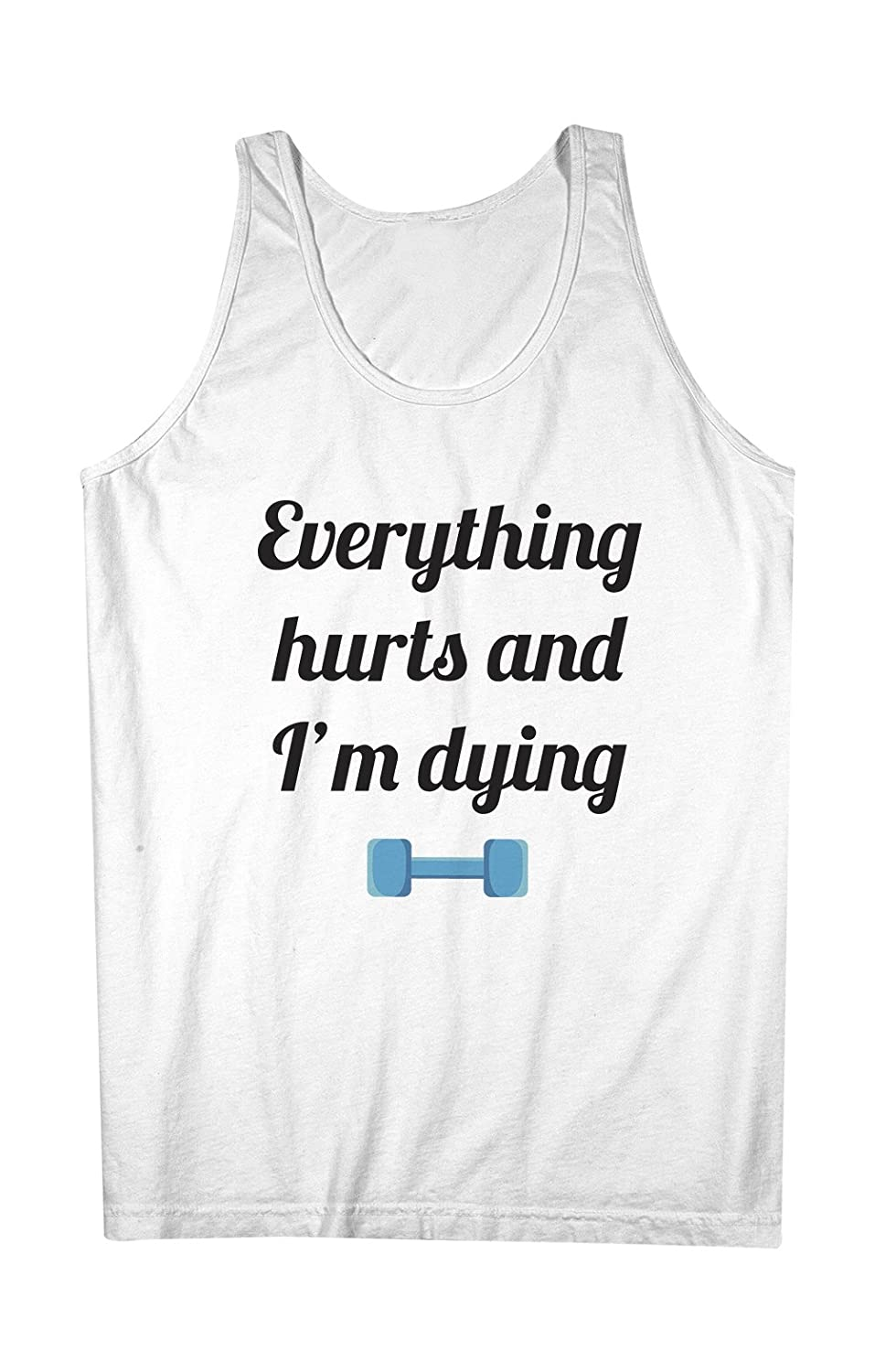 Everything Hurts And I'm Dying Gym Sport Fit 男性用 Tank Top Sleeveless Shirt