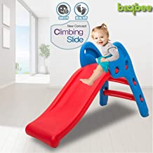 Baybee Foldable Baby Garden Slide for Kids - Plastic Garden Slide for Kids/Toddlers/Indoor/Outdoor Preschoolers for Boys and Girls Age Group-1 to 5 Years (Mini Slide)