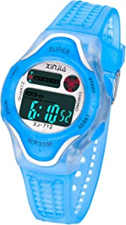Kids Digital Watch Waterproof Back Light Sports Outdoor Wrist Watches with Alarm for 3-12 Year Old Boys and Girls