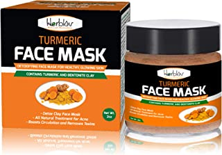 Turmeric Face Mask - Skin Brightening Mask with Turmeric and Bentonite Clay - All-Natural Face Mask for Acne Treatment - B...