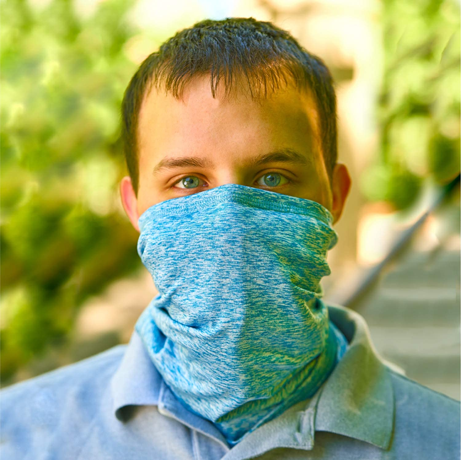 Squirrel Products RESPI-Gaiter, Neck Gaiter and Face Cover with 6 Layer Filtration