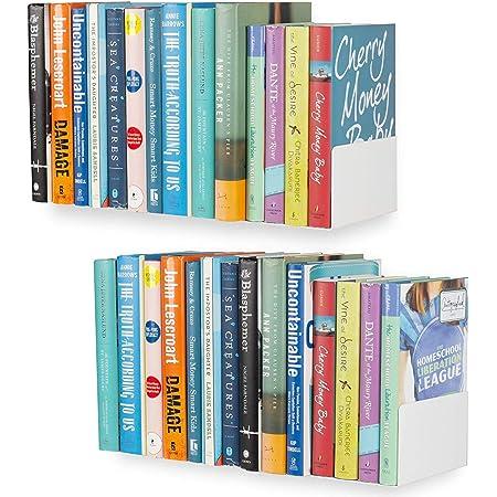 shiok decor® Wall Mount Metal U Shape Shelf Book CD DVD Storage Display Bookcase White Set of 2