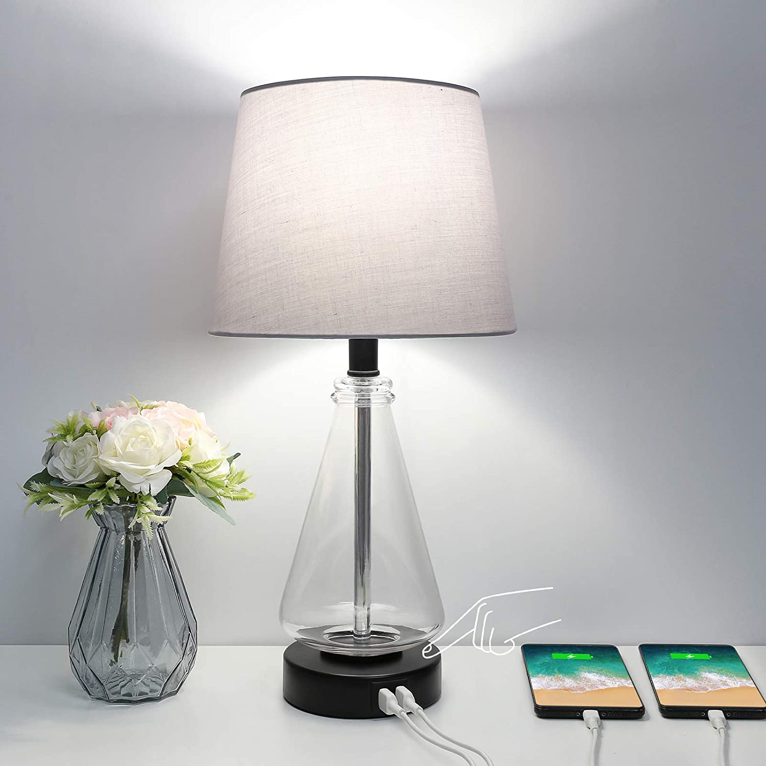 Super popular specialty store Touch Control USB Table Lamp Bedside Dimmable Way Max 63% OFF Boncoo 3