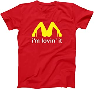Funny Threads Outlet I'm Lovin It Rude Inappropriate Sex Mens Shirt